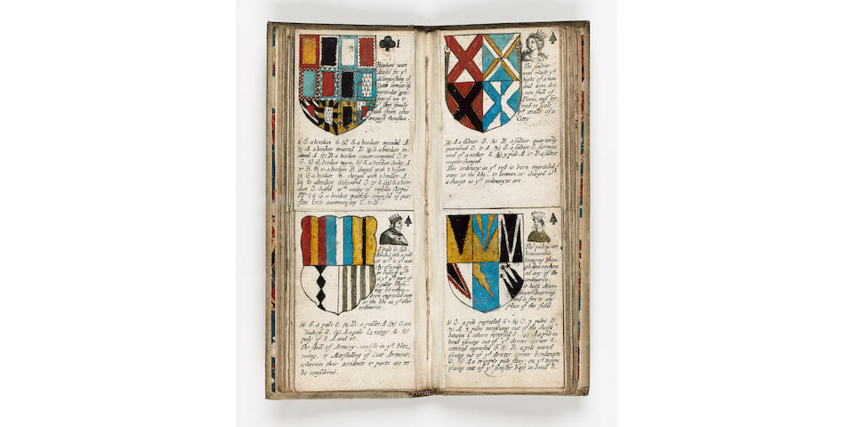 PLAYING CARDS - HERALDRY BLOME (RICHARD) Armorial Cards. Comprising in a Methodicall Method the Whole Body of Heraldry; with rules for the better to attaine to the knowledge therof