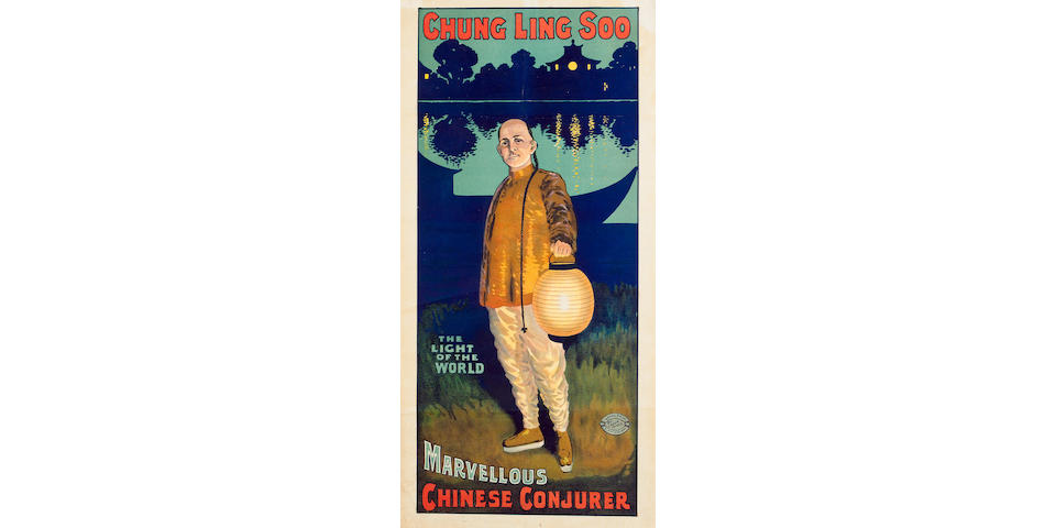 "POSTER - CHUNG LING SOO ""Chung Ling Soo. Light of the World. Marvellous Chinese Conjurer"""