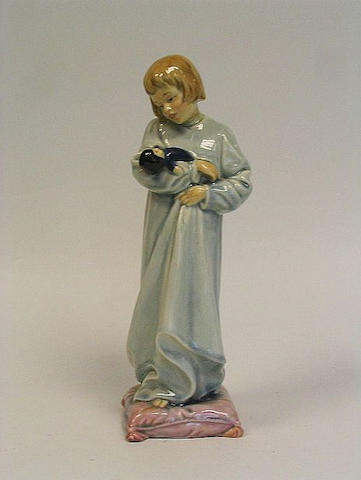 Doulton figure, 'The Little Mother' standing