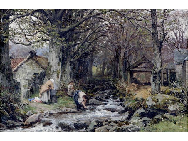 David Farquharson ARA ARSA RSW ROI (1840-1907) Wash day 48 x 74cm