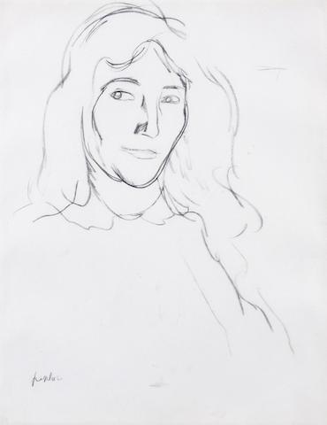 Samuel John Peploe RSA (1871-1935) Head of a girl 27.5 x 21cm