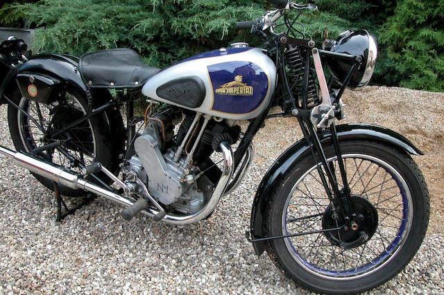 1937 New Imperial 496cc Model 76DL  Frame no. 126/32414R