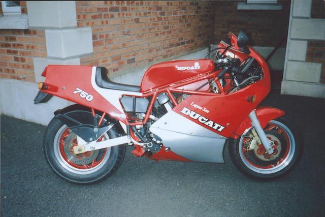 1987 Ducati 750cc F1 Laguna Seca  Frame no. 750267 Engine no. 750287
