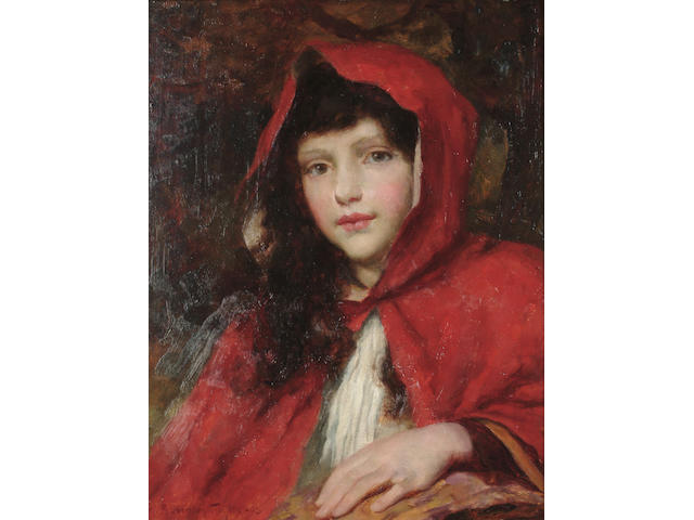 George Sheridan Knowles (British, 1863-1931) 'Little Red Riding Hood', 33 x 25.5 cm (13 x 10 1/8 in)