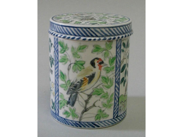 A Wedgwood earthenware box and cover decorated by Alfred H. Powell (1865-1960), for Margaret Powell (1847-1929)