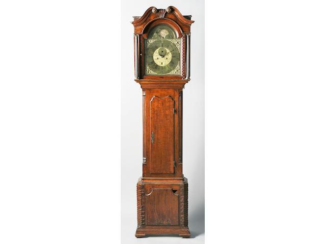 A George III oak longcase clock