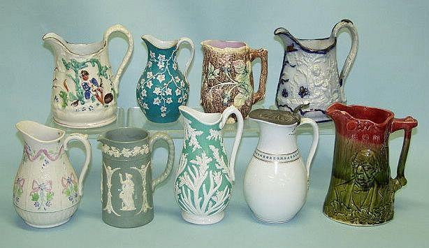 A quantity of assorted jugs 19th Century,