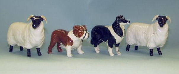 Two Beswick models of dogs
