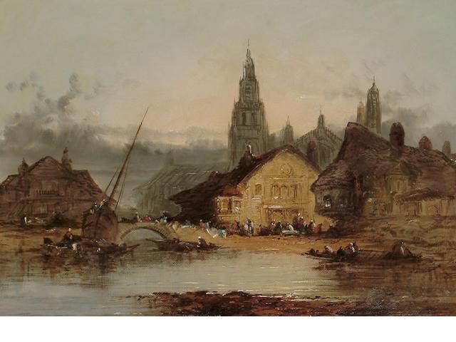 Henry Foley (British, 19th Century) On the Rhine, 25.7 x 35.5 cm (10 x 14 in)