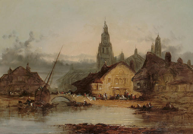 Henry Foley (British, 19th Century) On the Rhine, 25.7 x 35.5 cm (10 x 14 in)