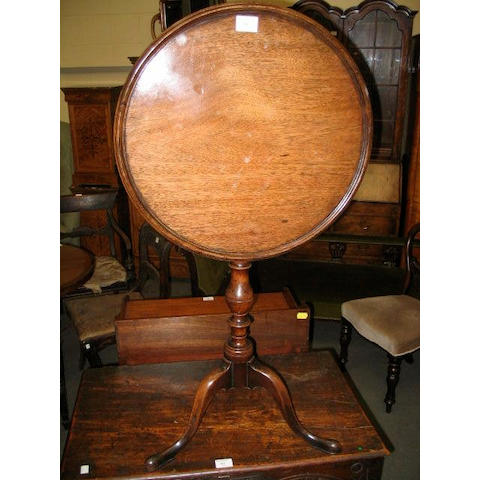 A mahogany occasional table,