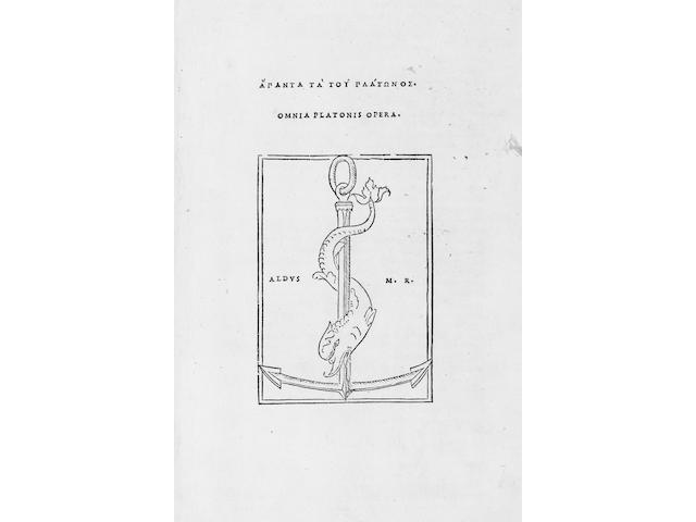 PLATO Omnia opera, 2 parts in one volume