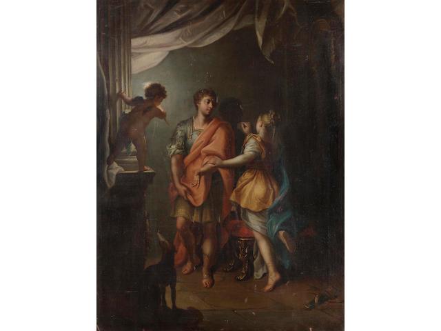 Circle of Domenico Parodi (Genoa 1668-1740) The Origins of Painting 113.3 x 86 cm. (44½ x 33 7/8 in.)