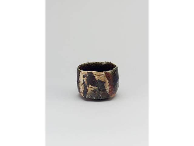 Takauchi Shugo an Oribe style Chawan or Teabowl Oribe named 'Hôrai' Diameter 5 in. (12.7cm)
