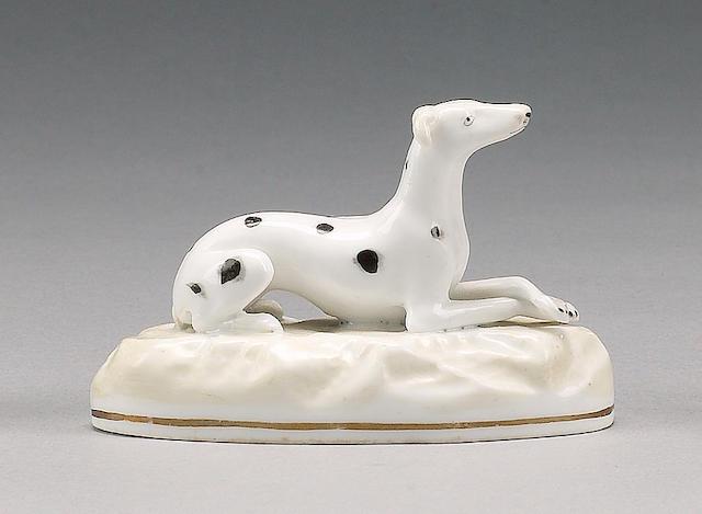 A Samuel Alcock model of a greyhound, circa 1830-45,