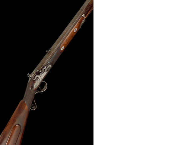A Fine And Rare 5-Bore Flintlock Heavy Game Rifle
