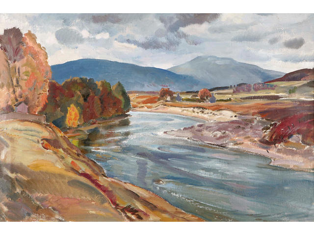 The Dee at Dinnet 49 x 74cm