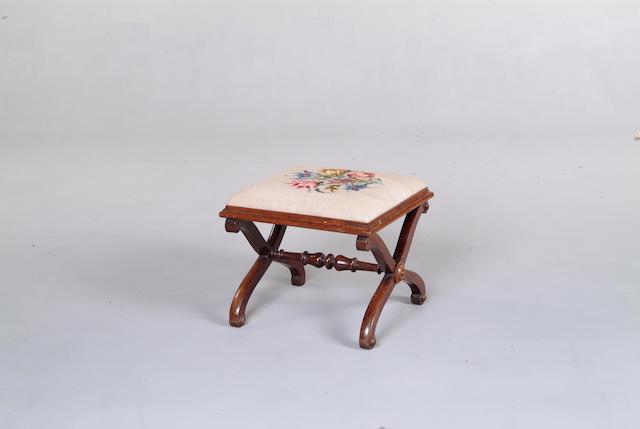 A William IV rosewood square stool