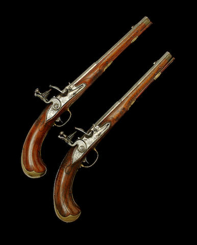 A Fine And Very Rare Pair Of 80-Bore German 'Flintlock' Sporting Air Pistols