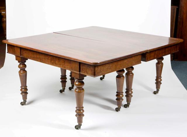 A Victorian mahogany dining table,