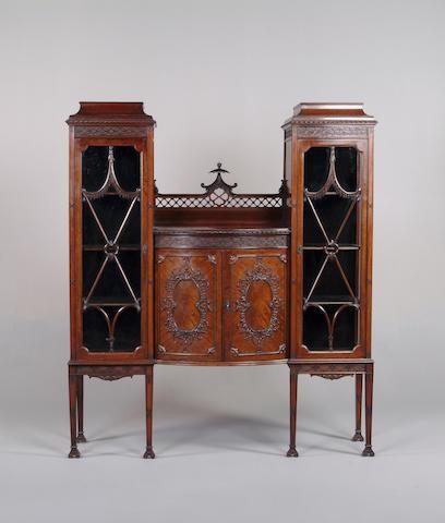 An Edwardian mahogany display cabinet