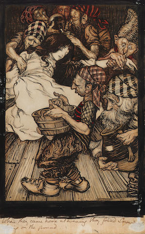Arthur Rackham R.W.S. (British, 1867-1939) Snow White and the seven dwarfs 25 x 15.5 cm. (9 3/4 x 6