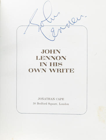 An autographed copy of John Lennon's 'In His Own Write', 1964,