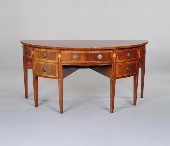 A George III mahogany demi-lune sideboard