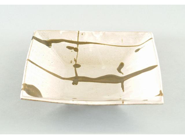 William Marshall a square Dish, 1983 12 1/4in. (31cm) Square