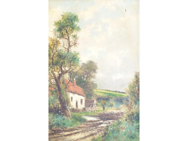Abraham Hulk Junior (1851-1922) 'A Country Cottage', 75 x 50cm.