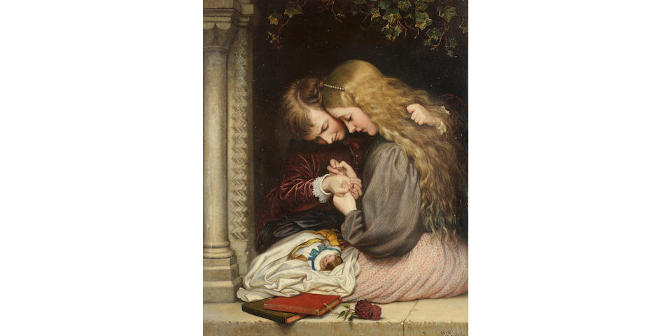 Charles West Cope, RA (British 1811-1890) The thorn 91.5 x 71 cm. (36 x 28 in.)