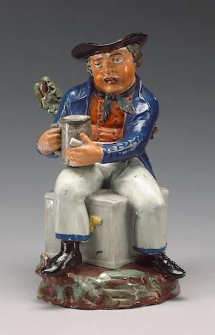 A 'Large American Sailor' Toby Jug, circa 1820,