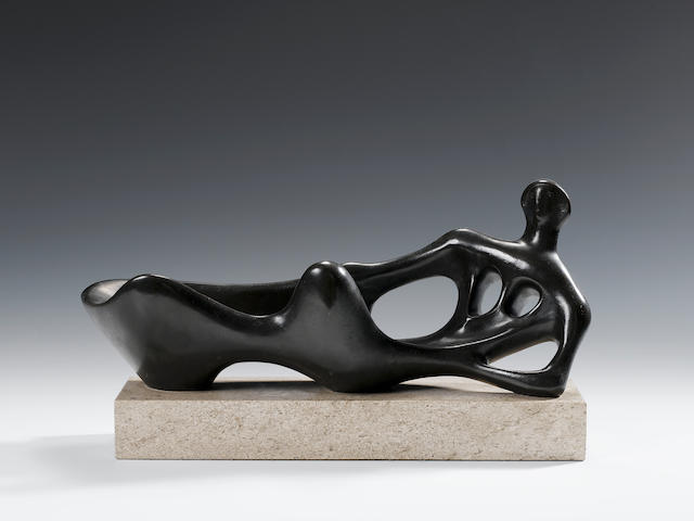 Henry Moore, O.M., C.H. (1898-1986) Reclining Figure 45 cm. (17 3/4 in.) long