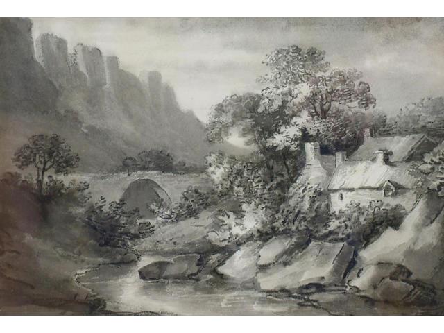 Attributed to Thomas Munro (1759-1833) 'Wick, near Bath', 19 x 28cm