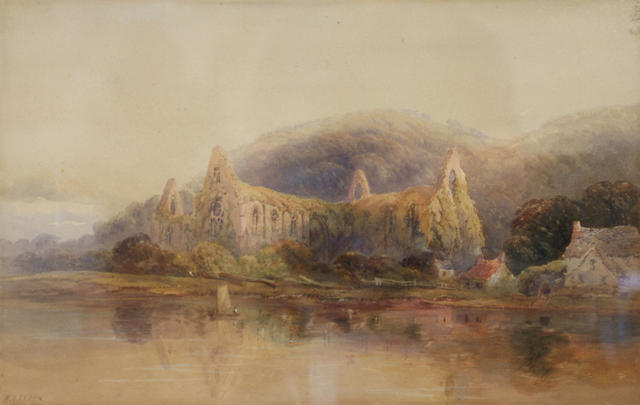 Walter Arnee Frank (1808-1897) Tintern Abbey, 31 x 49cm