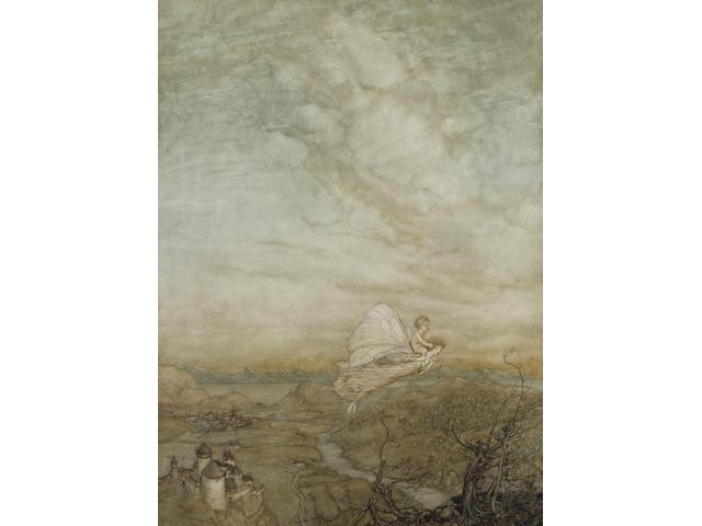 Arthur Rackham R.W.S. (British, 1867-1939) 'A fairy sent' 71 x 51.5 cm. (27 3/4 x 20 1/4 in.)