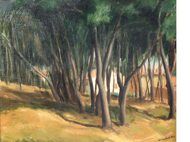 South African School (20th century) 'Woodland scene' 53 x 63cm
