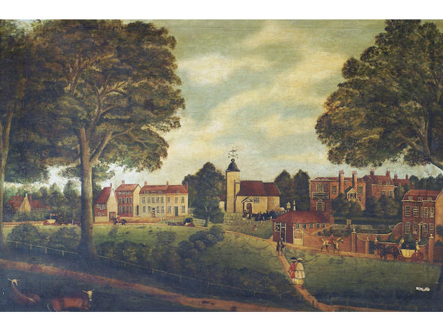 English school (19th century) 'A view of St Pancras' 58 x 83cm
