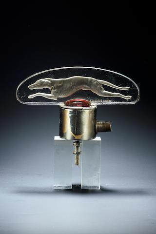 René Lalique 'Lévrier' a Clear and Frosted Car Mascot, design 1928