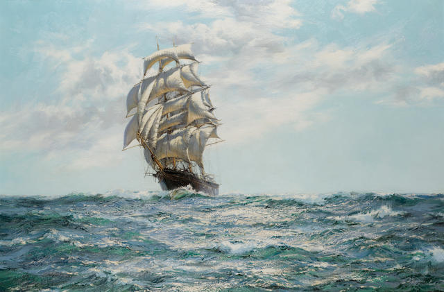 Montague Dawson (British, 1895-1973) The Glittering Highway - The 'Southern Cross' 61 x 91.4cm. (24 x 36in.)