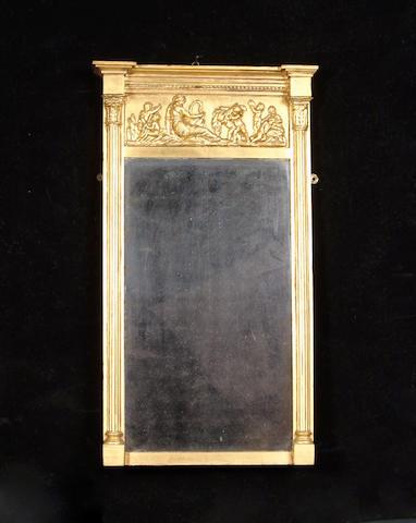A Regency gilt composition mirror