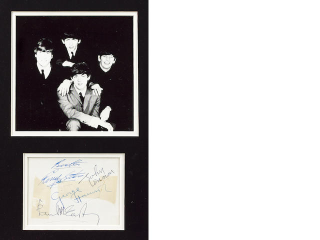 A set of Beatles autographs, circa 1963,