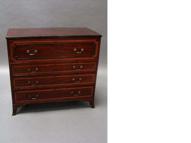 Regency mah satinwood chest