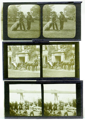 Early 20th century glass stereoscopic views, sixty three views taken by the occupants of 'Dovenest' Windermere.