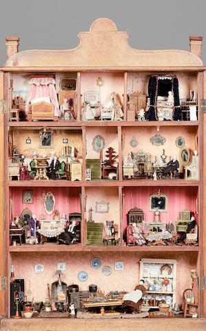 Dutch Cupboard Dolls house, continental circa 1870