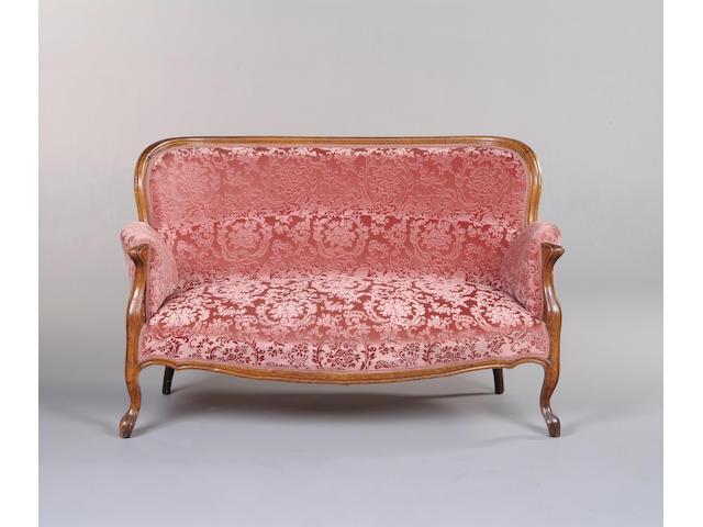 A Louis XV style beech canapé,