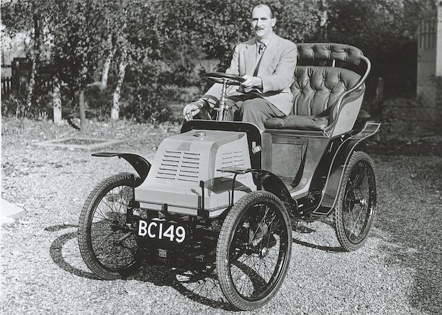 1900 3 1/2-hp Phebus-Aster 'Automobilette'  Chassis no. 606 Engine no. 2130
