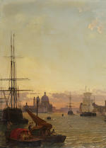 Christian Friedrich Nerly (German 1807-1878) Venice, the Doge's Palace and the Piazette di San Marco