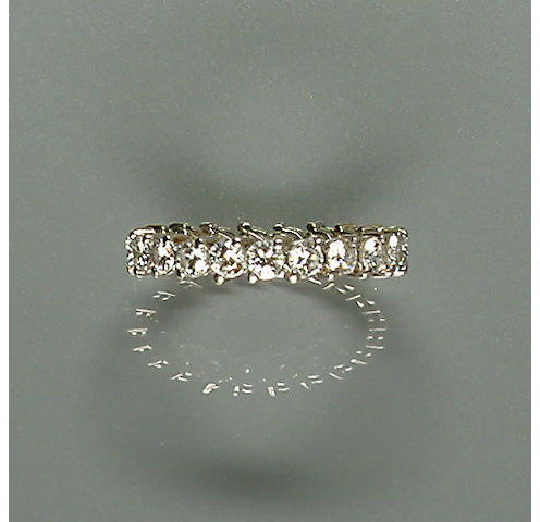 50109290077 A diamond eternity ring, diamonds approx. 1.60ct. total