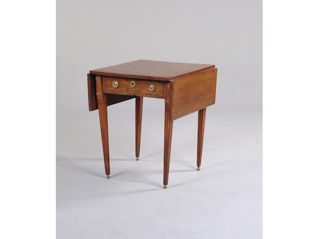 A Louis XVI style mahogany and gilt metal mounted occasional table,